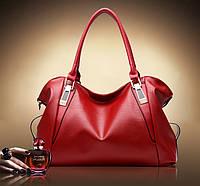 Жіноча Червона сумка хорошої якості на плече/через плече
