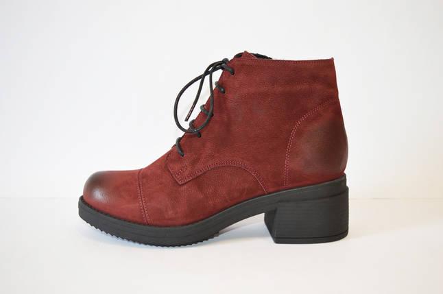 Демисезонные бордовые ботинки Donna Ricco, фото 2