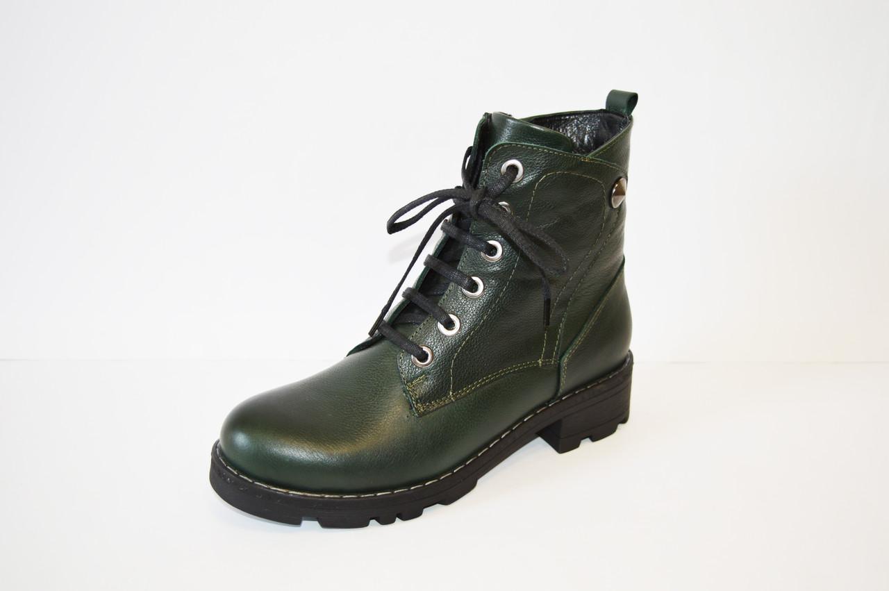 Осенние зеленые ботинки Molly Bessa