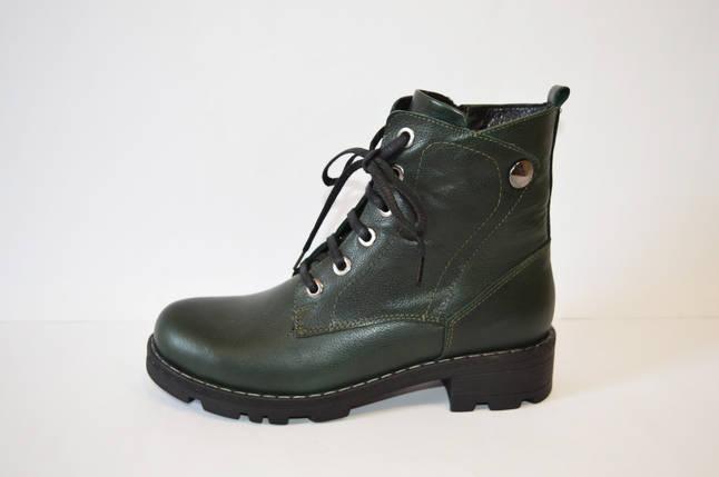 Осенние зеленые ботинки Molly Bessa, фото 2