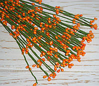 Ветка  с ягодками оранжевого цвета