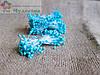 Тычинки Китайские,голубые,глянцевые,на белой нити