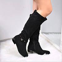 Сапоги женские Hazze черные 3641, зимняя обувь