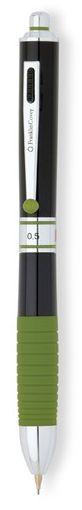 Красивая мульти ручка Franklin Covey HINSDALE Black Lacquer/Green BP+BP+BP+PCL Fn0090-1 чёрный