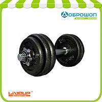 Гантель наборная железная 15 кг DUMBELL SET LS2311-15