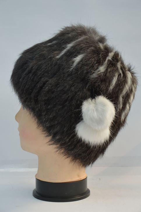 Теплая женская меховая шапка высокого качества