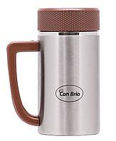 Термокружка-заварник с ручкой Con Brio 0,4л СВ-339кор