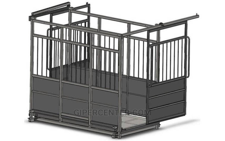 Весы для животных до 600 кг с раздвижными дверьми 4BDU-600X-Р, 1250х2000х1600мм СТАНДАРТ, фото 2