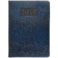 Щоденник датований 2018 AMAZONIA (срібнення зрізу), A5, 336стр. синій