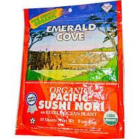 Great Eastern Sun, Emerald Cove, органические тихоокеанские суши нори, 10 листов, 0,9 унции (25 г)