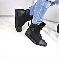 Ботинки женские Neo черные 3642, ботинки женские