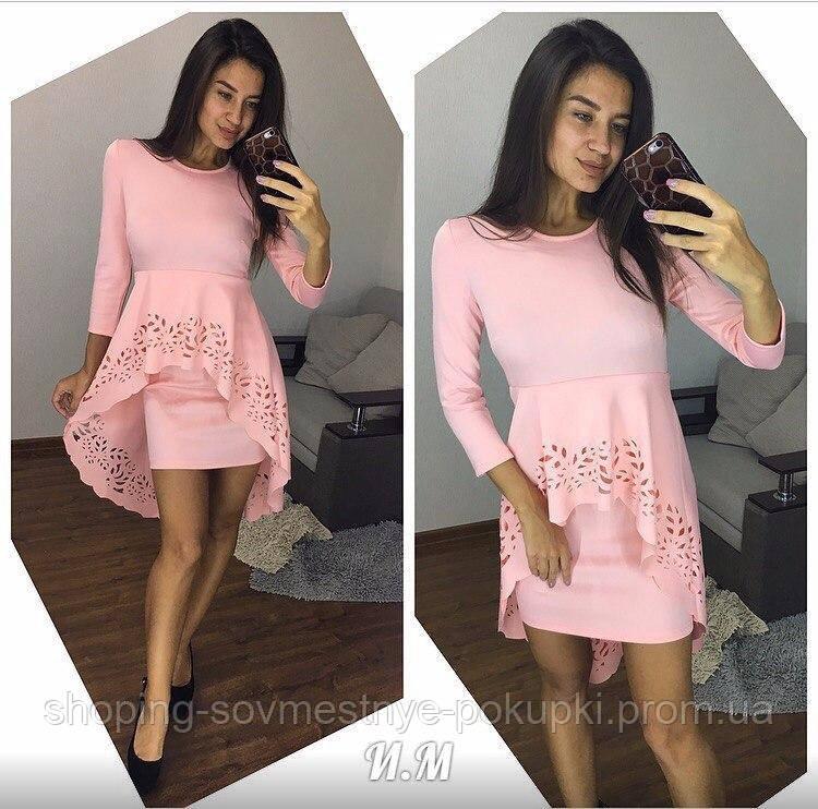 Вечернее платье с двойной юбкой и перфорацией купить в Украине ... 4f96887056ff8