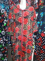 Велюровый халат большого размера 58-62 р-р