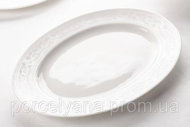 Блюдо фарфоровое овальное