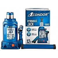 Домкрат бутылочный низкий CONDOR K5013 12т 185-320мм