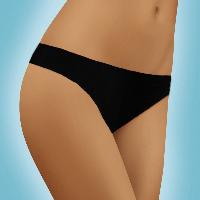 Черные трусики бразилиана хлопковые, бесшовные , S-XL/ модель 9201 Jasmine Mickey