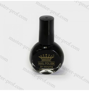 Лак-фарба для стемпинга Master 10мл чорна