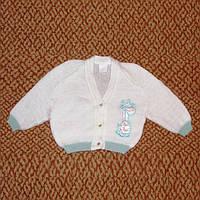 Джемпер детский, кофта с жирафом акрил на 6-12мес р.74-80