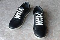 Туфли кожаные тёмно-сииние