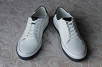 Туфли кожаные белые MILLIONER