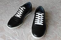 Туфли кожаные чёрные