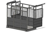 Весы на ферму до 600 кг, для взвешивания животных с раздвижными дверьми 4BDU-600X-Р, 1250х1250х1600мм СТАНДАРТ