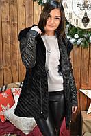 Куртка из вязанной норки