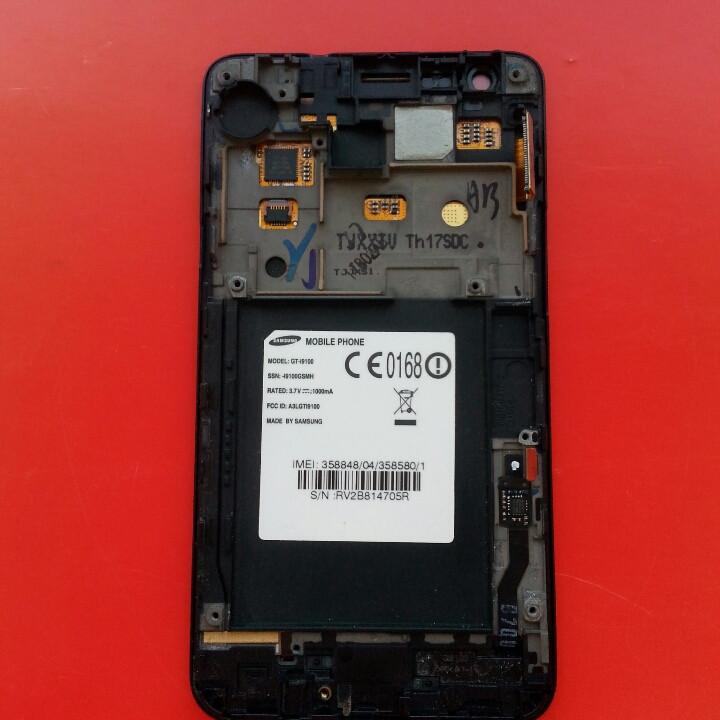 I9100 дисплей с тачскрином дисплейный модуль дисплей с сенсором в рамке б/у оригинал