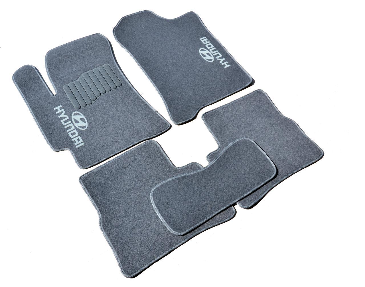 Килимки в салон ворсові AVTM для Hyundai Accent (2006-2010) (Verna) /Сірий, кт-5шт GRCR1214