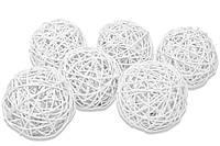 Ротанговый шарик 3 см, белый