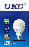 Лампа светодиодная энергосберегающая LED E27 12W (Белый свет) UKC