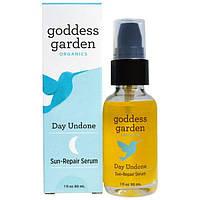 Goddess Garden, Organics, Отмена дня, сыворотка для восстановления повреждений от солнца, 1 жидк. унц. (30 мл)