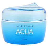 Nature Republic, Аква, Супер аква макс, Освежающий крем на водянистой основе, 2.70 унции (80 мл)
