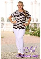Женская красивая блуза большого размера (р. 48-90) арт. Нимфа