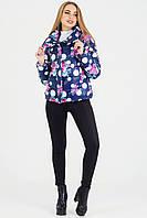 Куртка осень-весна DKU1 - синяя с розами