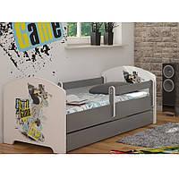 Детская кровать Oskar+ящик Skate 140 х 70 Baby Boo 100197