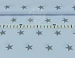 Бязь ранфорс с серыми звёздочками на белом фоне, ширина 220 см (№928), фото 4