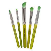 Bdellium Tools, Зеленая бамбуковая серия, для выразительных глаз, набор из 5 кистей