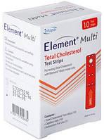 Тест-полоски Element Multi на общий холестерин №10