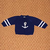 Свитер детский Gymboree темно-синий с якорем, хлопок, 3-6 мес. р. 62-68