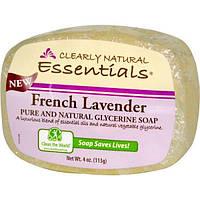 Clearly Natural, Натуральное чистое глицериновое мыло, французская лаванда, 113 г (4 унции)