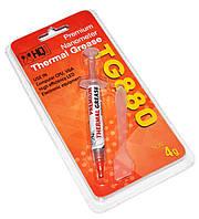 #131934 - Термопаста 4g HQ-Tech премиум TG880-TU4.0, 4g шприц, 5.15W/m-K, блистер-шприц с лопаткой