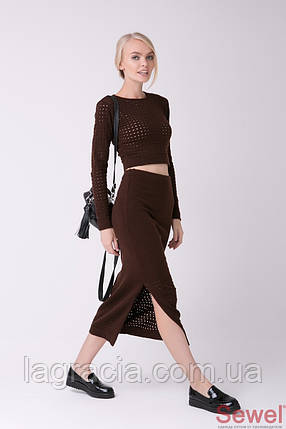 Модный женский костюм с юбкой и кофтой, фото 2