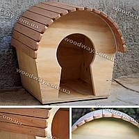 Просторный деревянный домик для кота, кошки, маленькой собачки