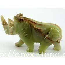Носорог из оникса - Интернет-магазин onyx-bronze.com.ua в Одессе