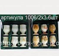 Рюмки из оникса классика набор из 6 шт, фото 1