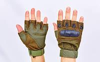 Перчатки тактические с открытыми пальцами и усил. протектор  OAKLEY