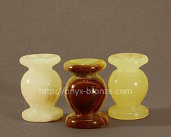 Подсвечник для церковной свечи из камня оникса