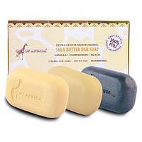 Out of Africa, Экстра-мягкое увлажняющее мыло с маслом ши, 3 куска, 4 унции (120 г) каждый