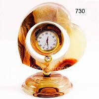 Часы в форме сердца из оникса